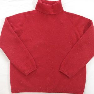 Wool Angora Blend L.L.Bean Red Sweater - Large